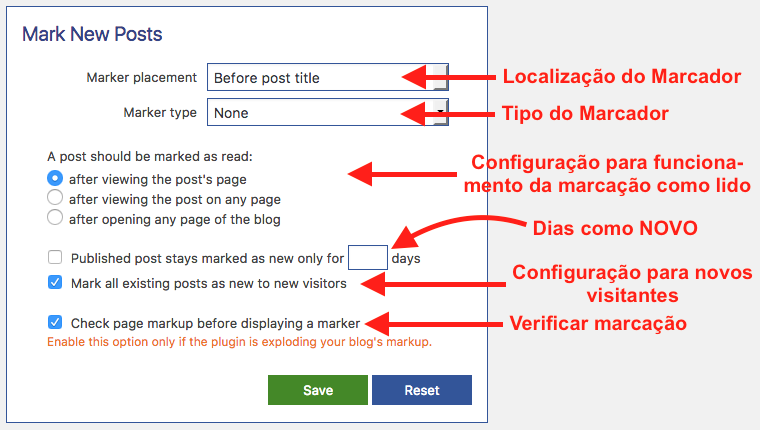 Aprenda A Sinalizar Posts Novos No WordPress - Configuracoes para o Mark New Posts