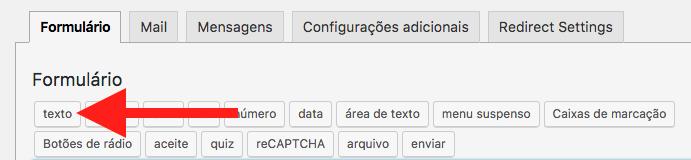 Como Adicionar Validacao Para Formulario Contact Form 7 - Adicionar Campo de Texto
