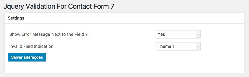 Como Adicionar Validacao Para Formulario Contact Form 7 - Pagina para Definicoes Basicas do Plugin