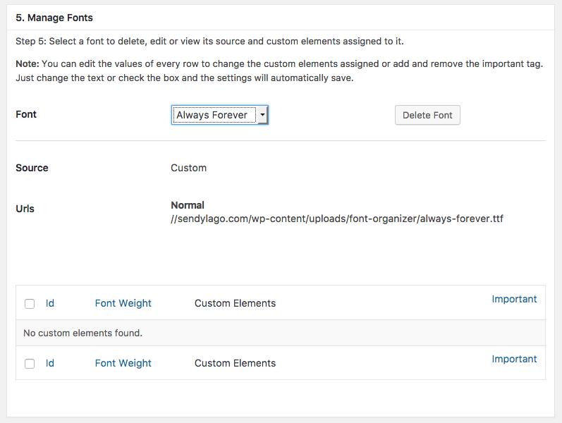 Descubra Como Utilizar Qualquer Fonte Em Seu WordPress com Plugin - Excluindo Fonte Customizada
