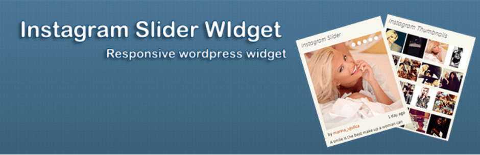 10 Plugins Incriveis Para Exibir Fotos do Instagram no WordPress - Instagram Slider Widget