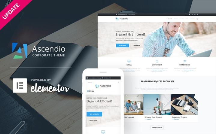 Ascendio Tema WordPress Negócios