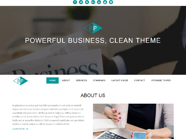 Business Park Tema WordPress Negocios