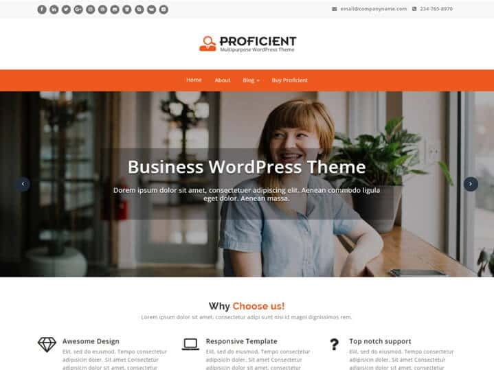 Proficient Tema WordPress Negocios