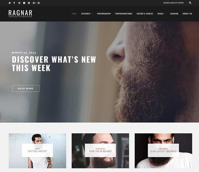 Ragnar Tema WordPress