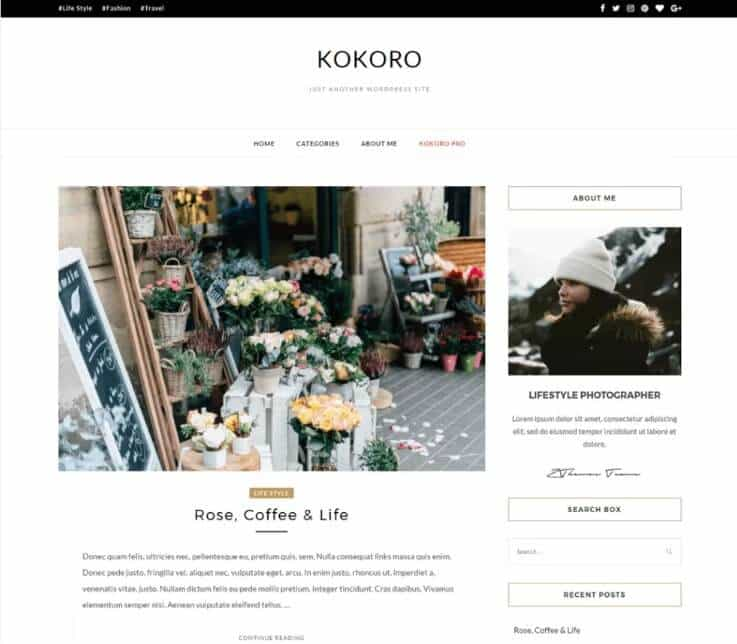 kokoro Tema WordPress