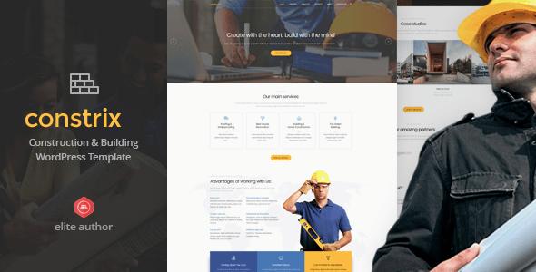 10 Temas WordPress Premium para Empresas de Construcao - Constrix