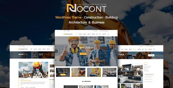 10 Temas WordPress Premium para Empresas de Construcao - Nocont