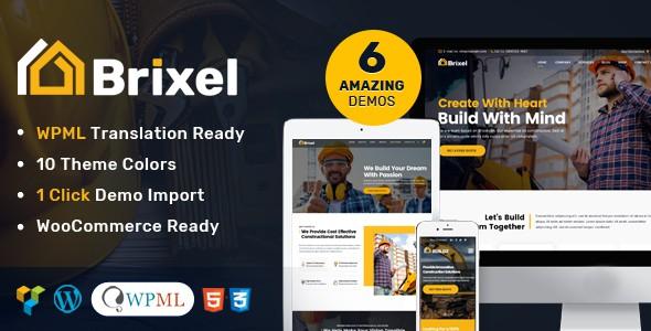 Brixel Tema WordPress Construção e Arquitetura