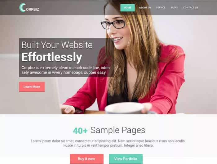 Corpbiz-free-wordpress-theme