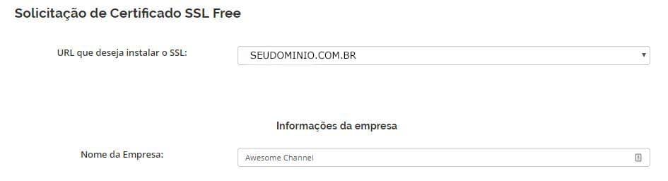 Selecione o Website Preencha o Formulario2