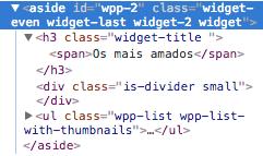 Como Adicionar Classe CSS Aos Widgets WordPress - Codigo Fonte do Widget Antes de Receber A Classe CSS Personalizada