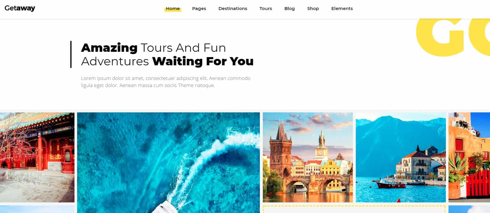 Getaway – An Upbeat Travel and Tourism Theme