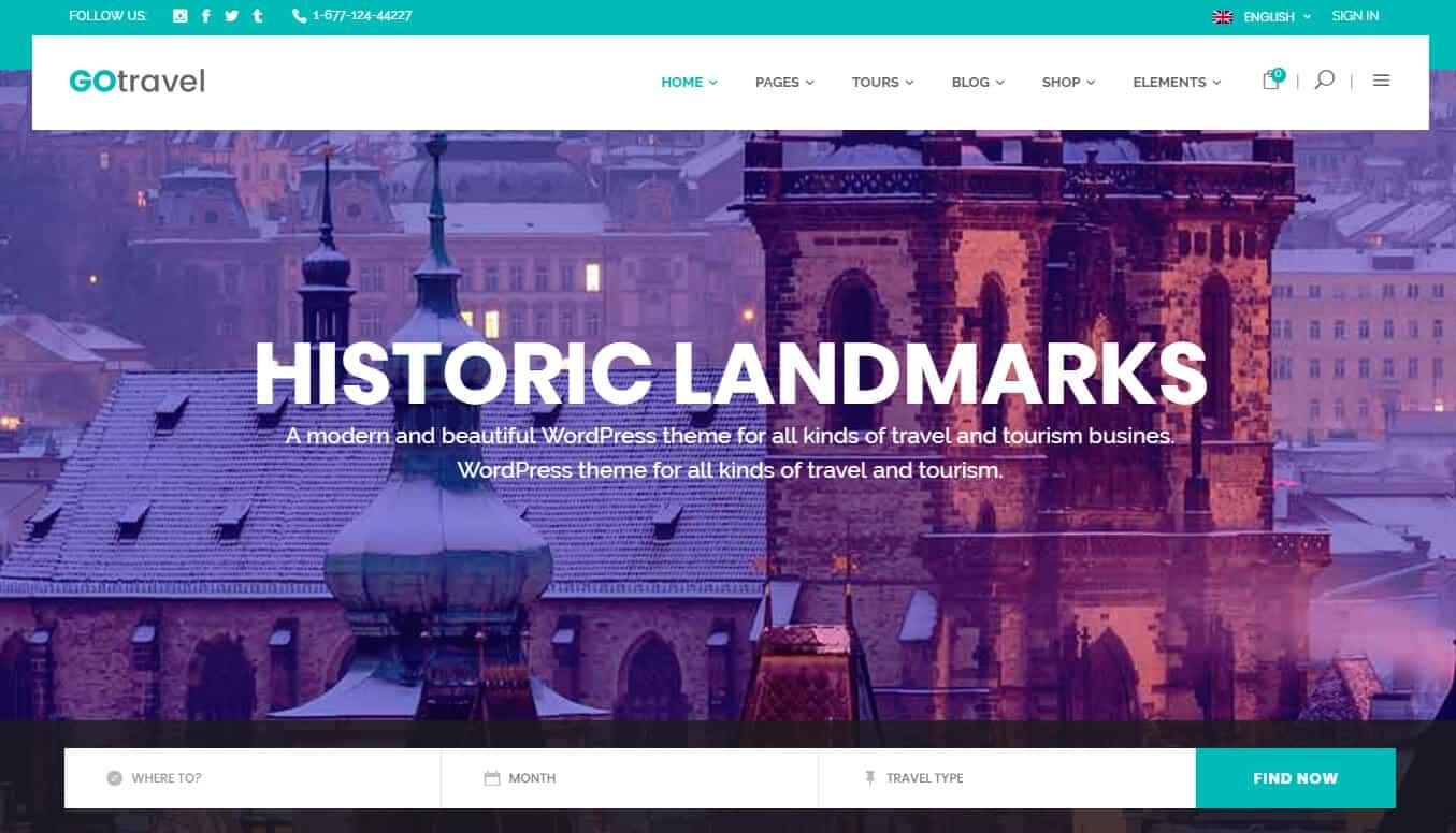 GoTravel – A Travel Agency & Tourism Theme