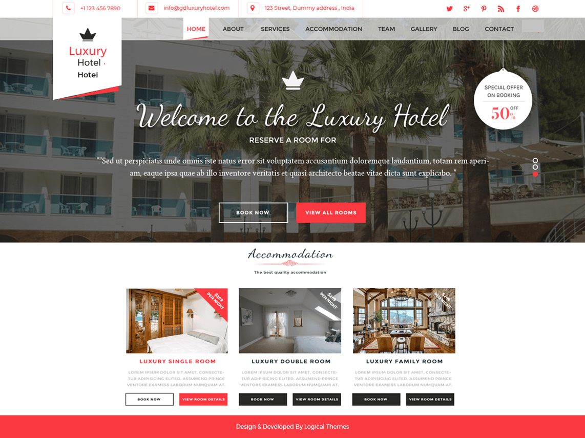 Hotel Resort Tema WordPress