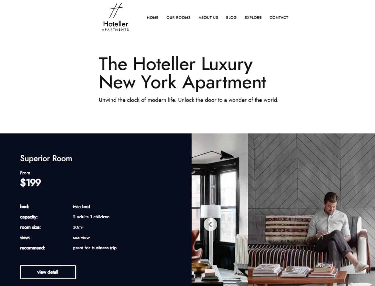 Hoteller - Apartment Hotel WordPress Theme – Just another WordPress site