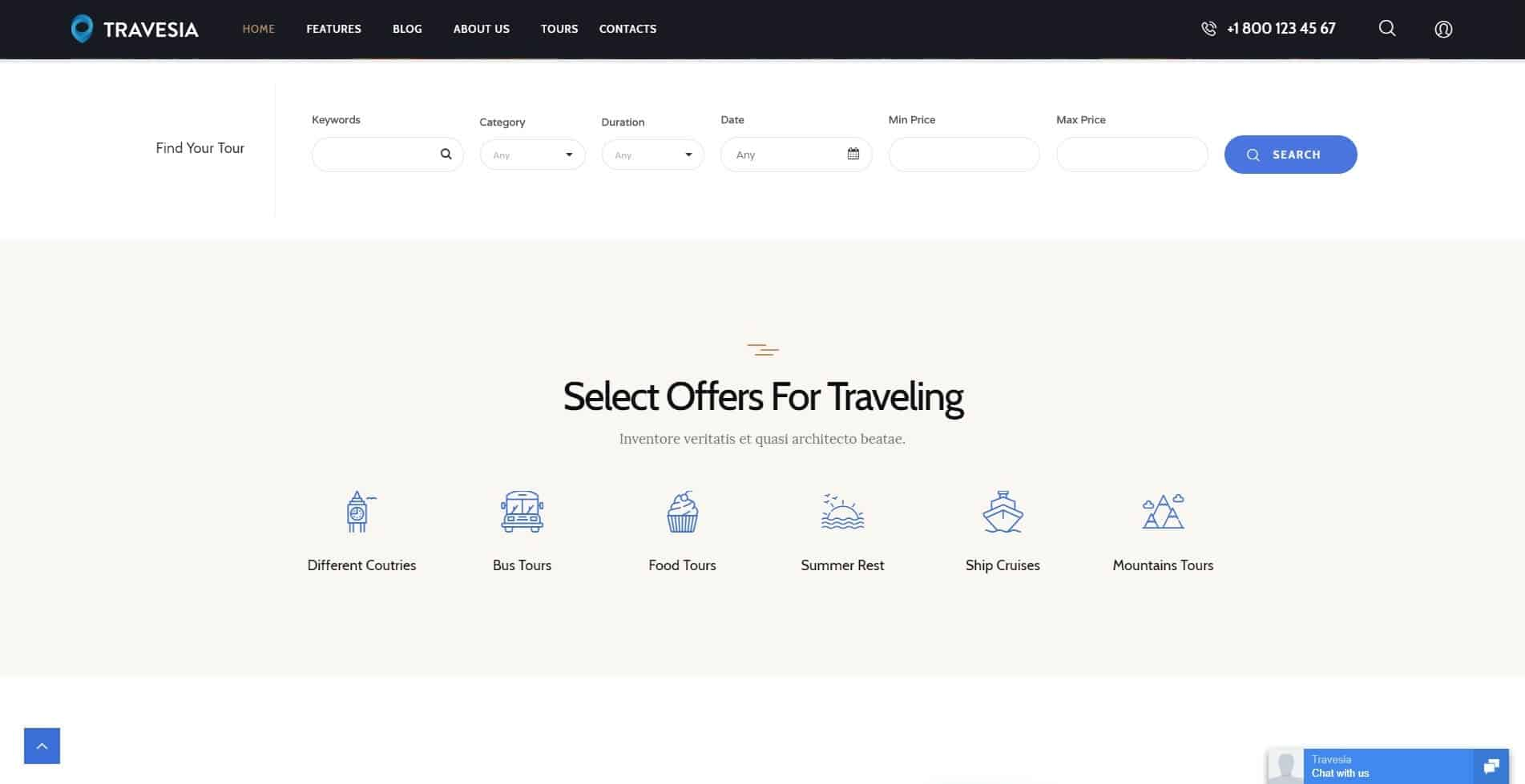 Travesia – Tour & Travel WordPress Theme – Just another WordPress site