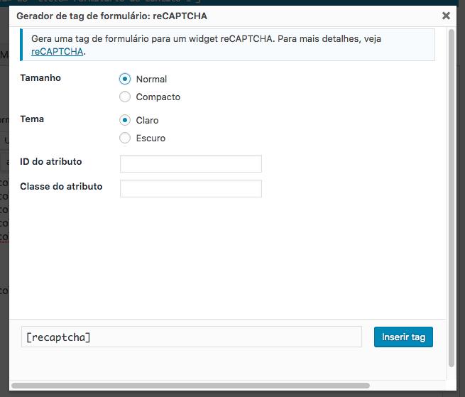 Como Adicionar reCAPTCHA Ao Formulario Sem Plugin - Aparencia do reCAPTCHA