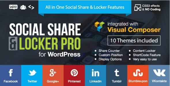 Social Share e Locker Pro Plugin WordPress