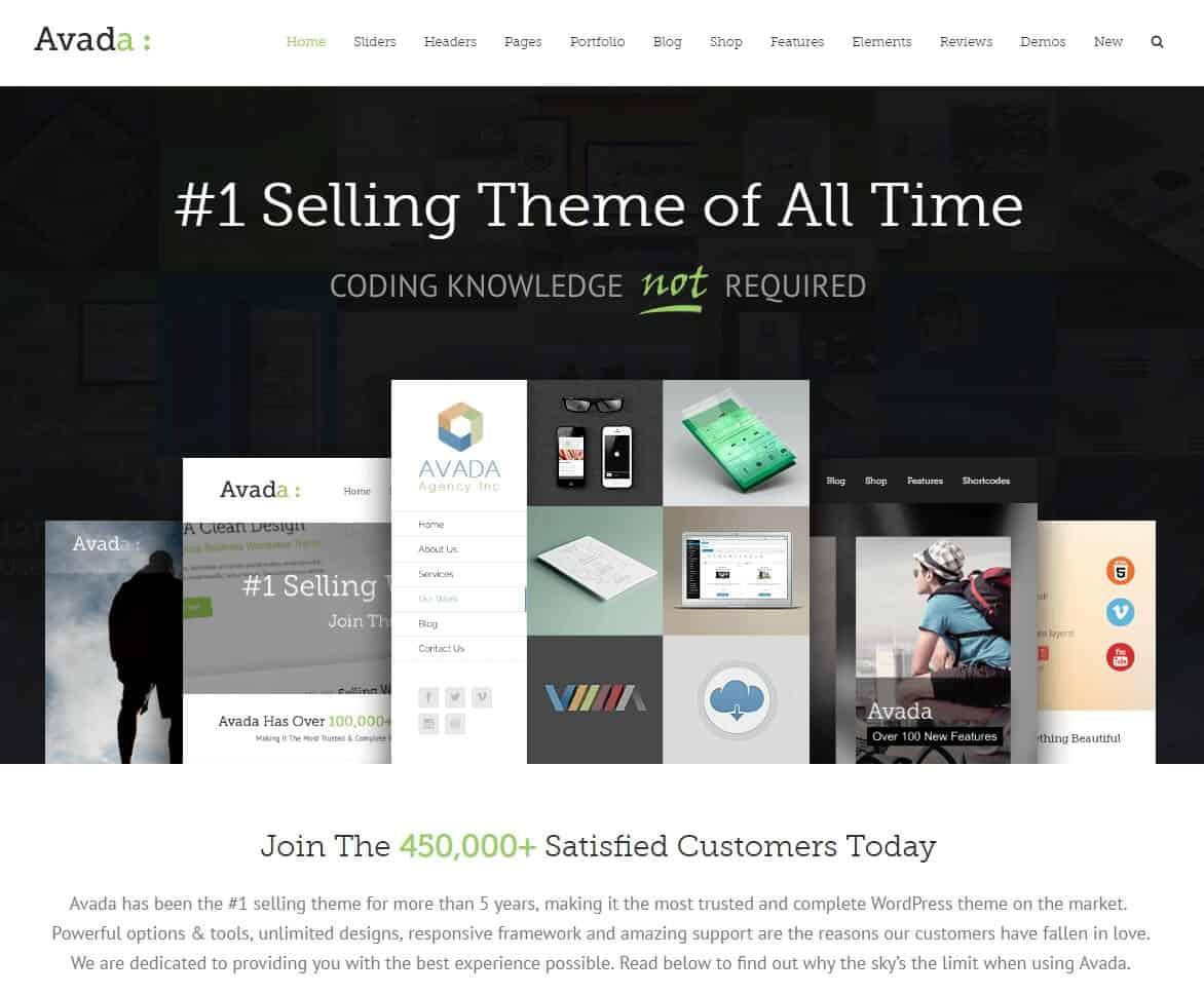 Avada Tema WordPress para Negocios