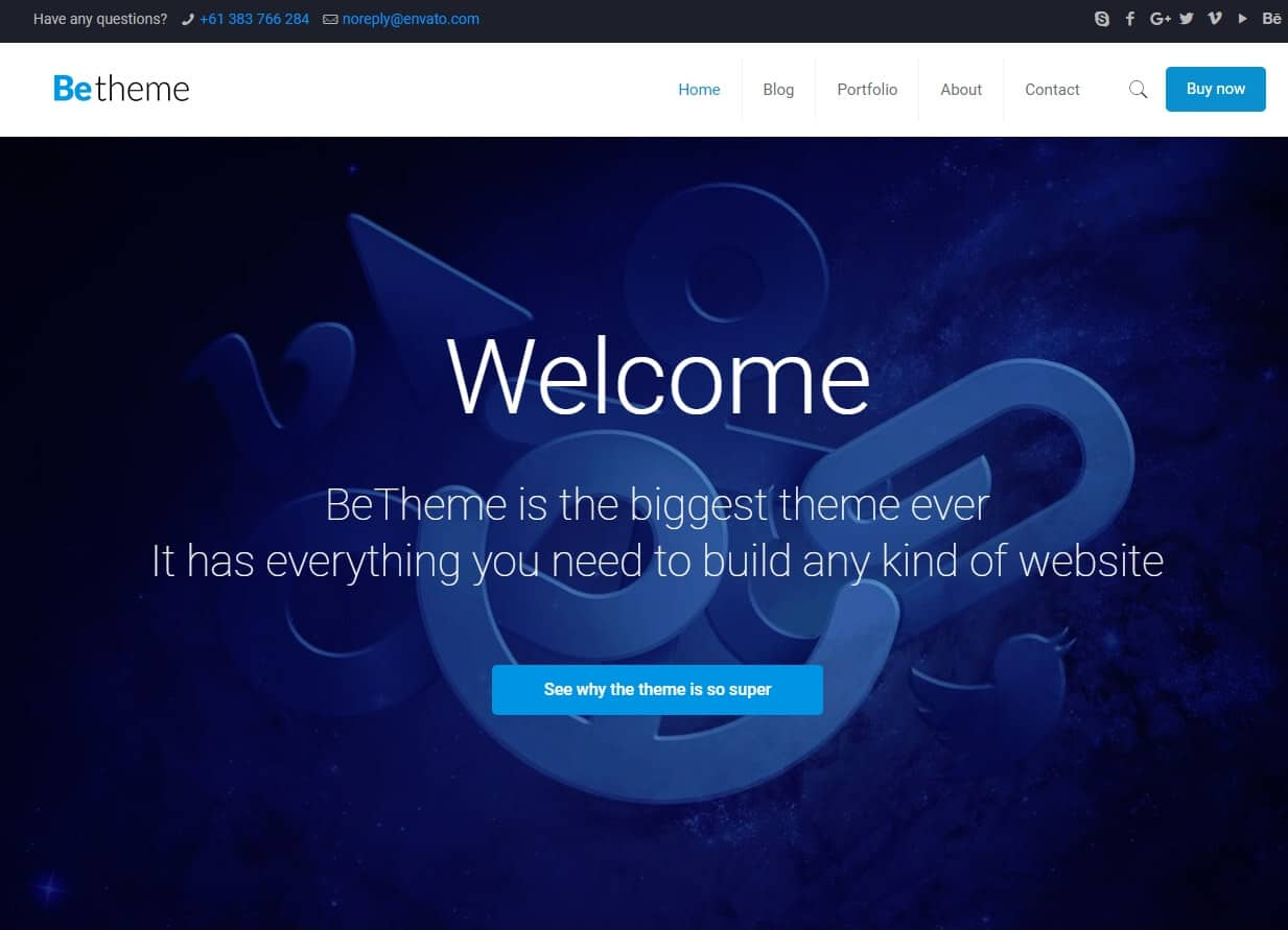 BeTheme – Best WordPress Theme Ever – Premium WordPress Theme