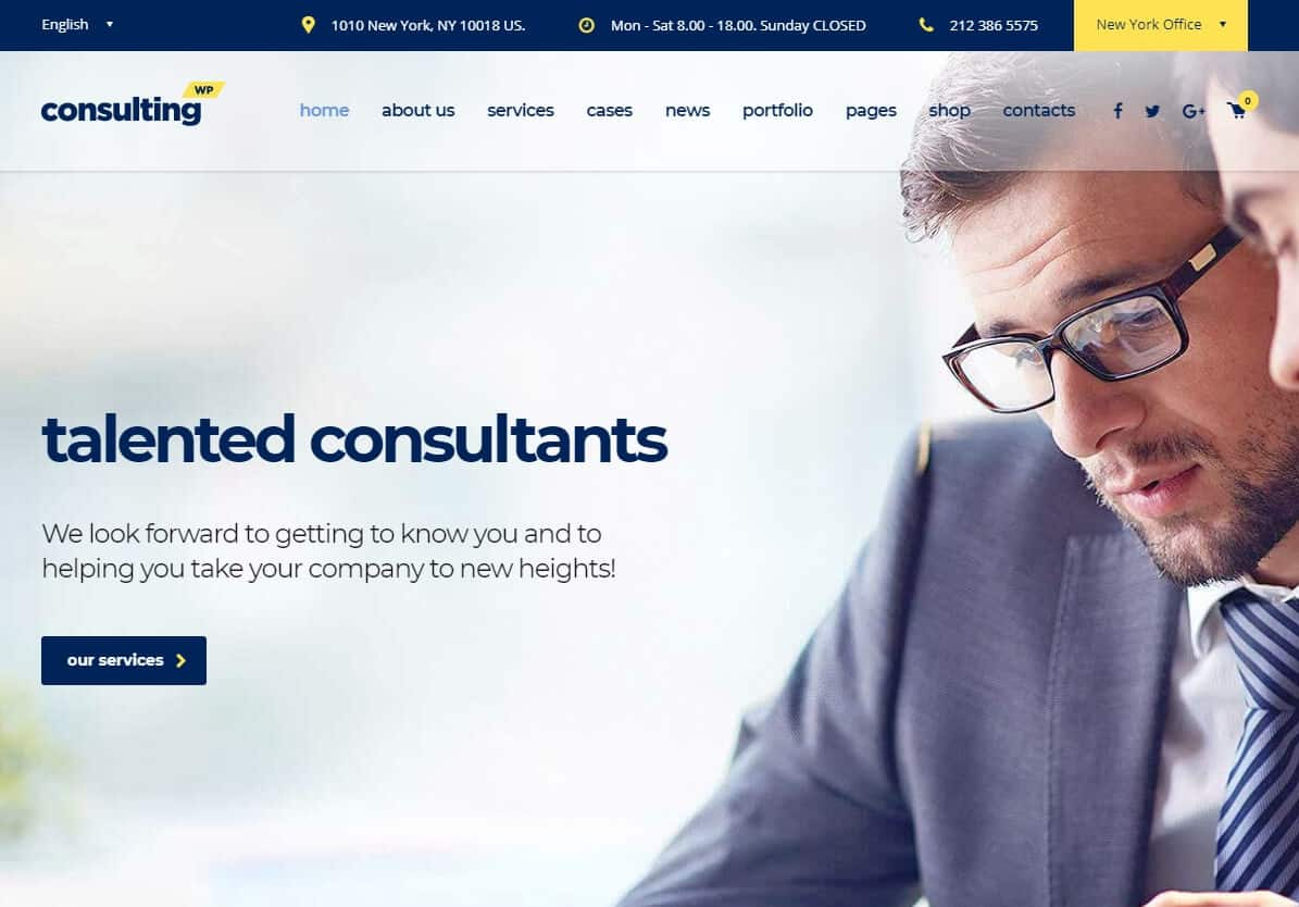 Consulting WP – New York – Business, Finance WordPress theme