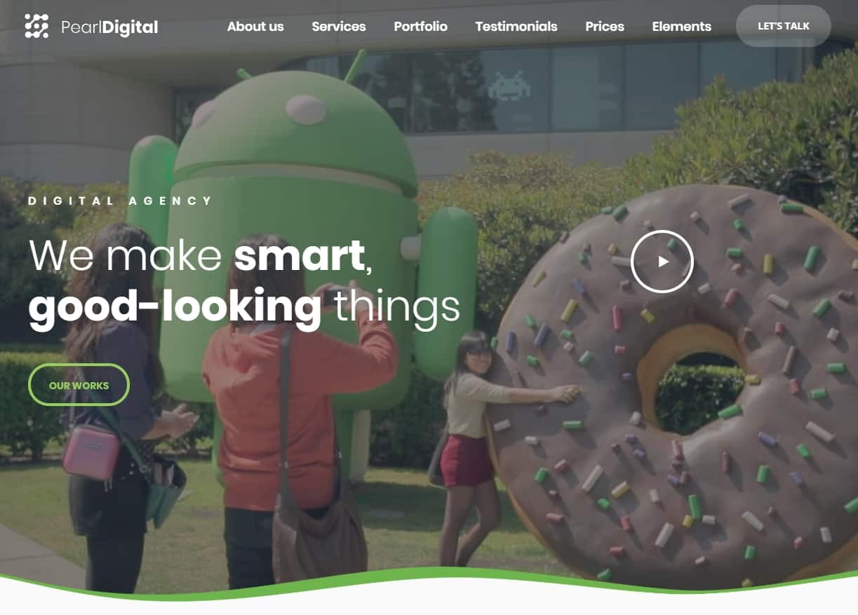 Pearl Business Tema WordPress Digital Technology