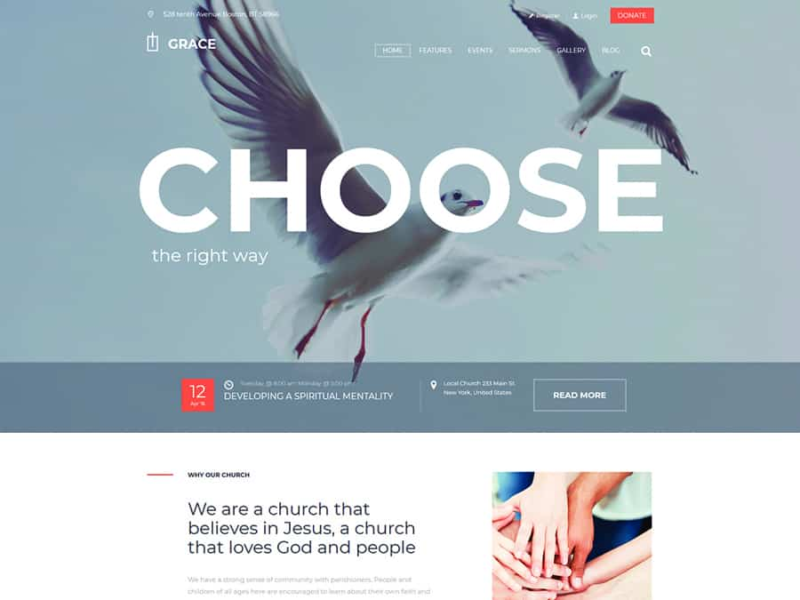 Grace - Tema WordPress Igreja e religiao