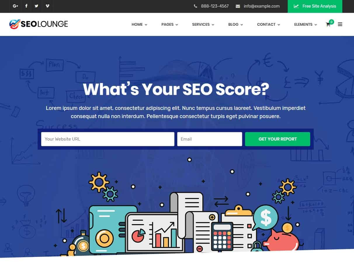SEO Lounge Tema WordPress