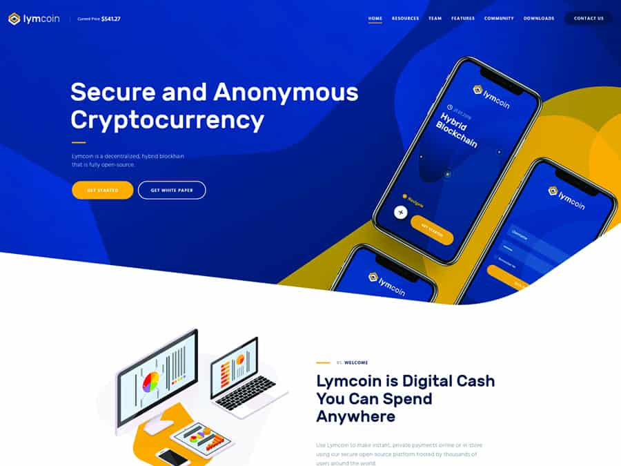 Lymcoin Tema WordPress Cryptocurrency & ICO