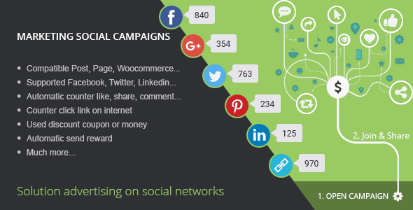 Social Marketing Campaign WordPress Social Plugin