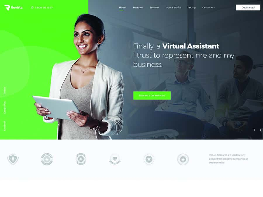 Revirta Tema WordPress Assistente Virtual