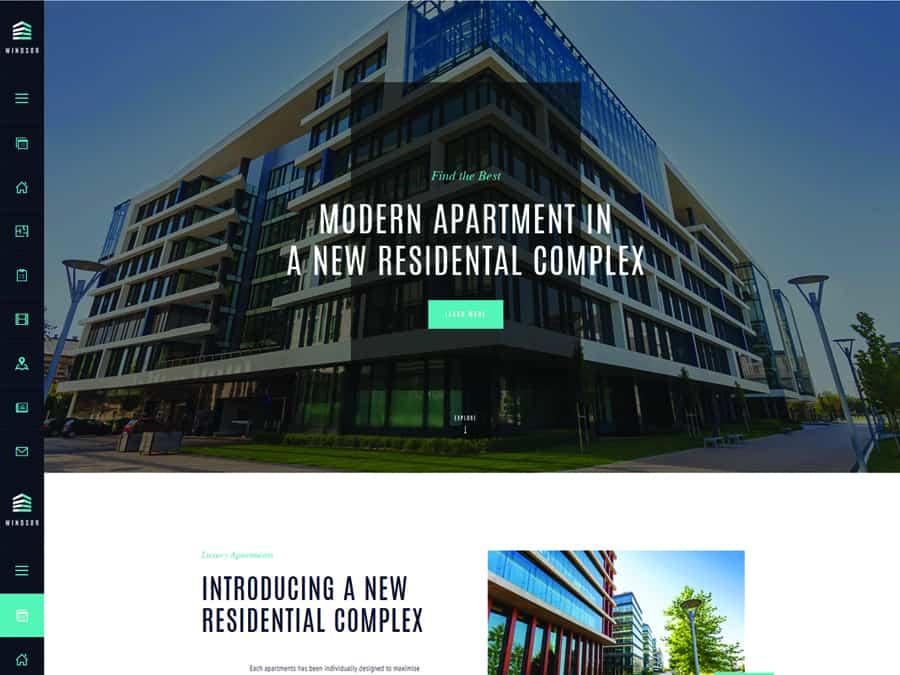 Windsor Tema WordPress Apartamentos e Propriedades Simples