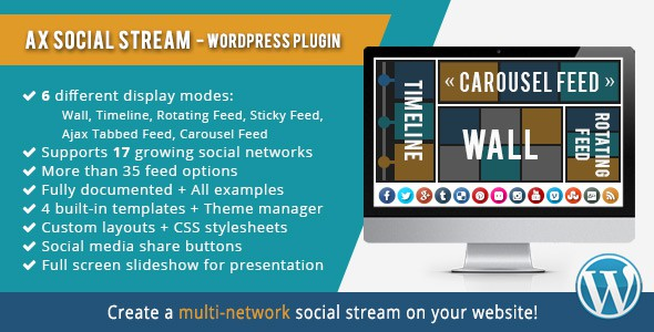 AX Social Stream WordPress Plugin