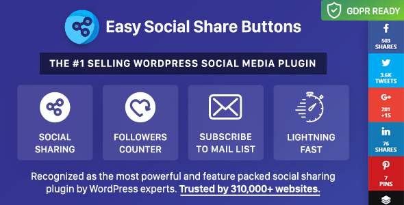 Easy Social Share Buttons para WordPress