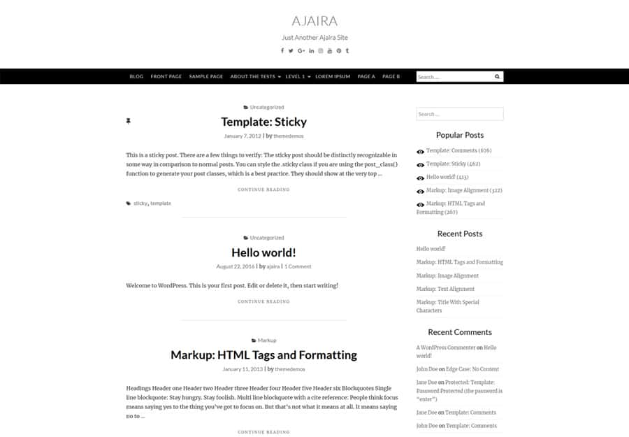 Ajaira WordPress Theme