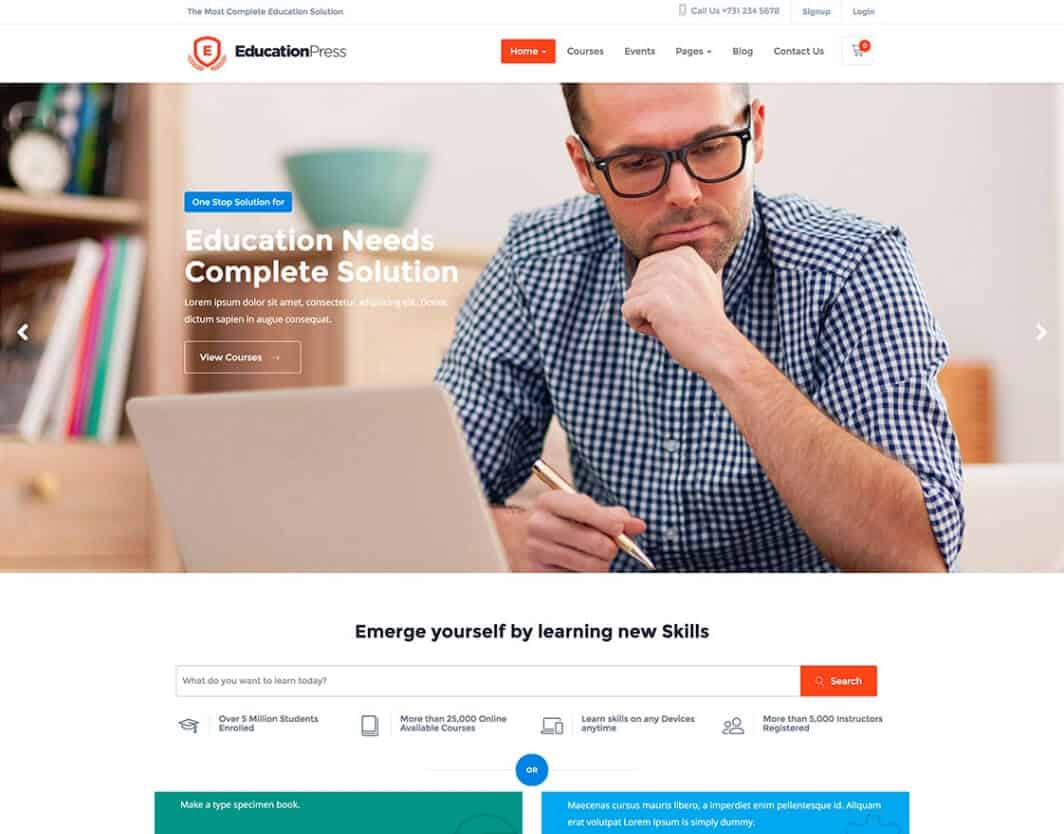 EducationPress LMS Tema WordPress