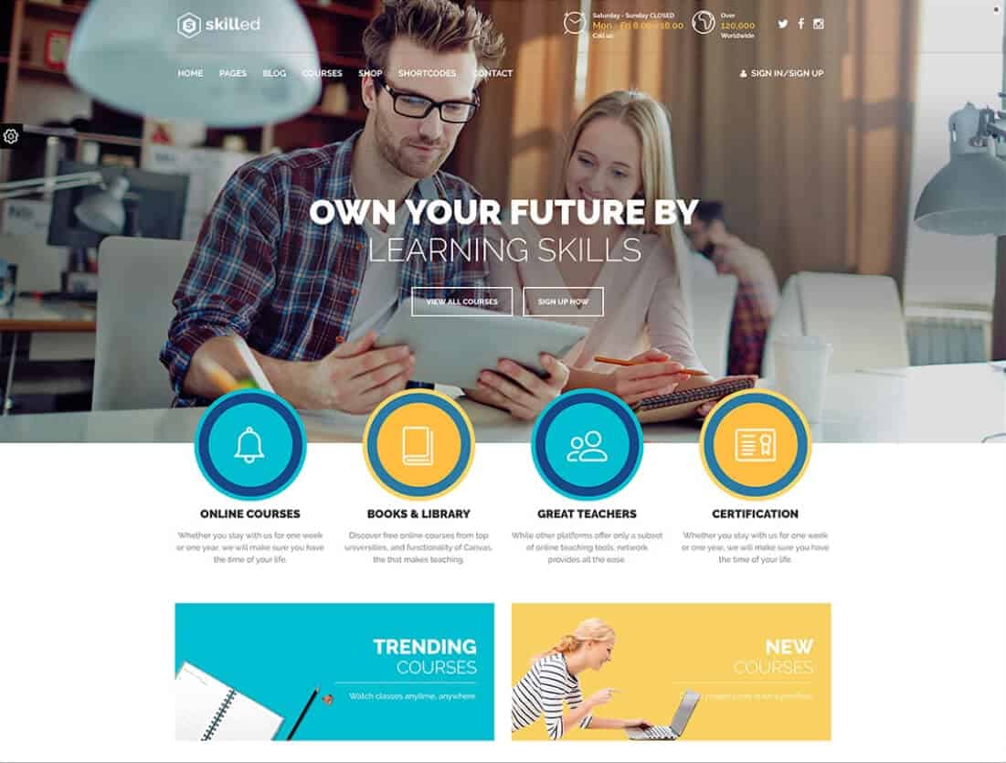 Skilled LMS Tema WordPress