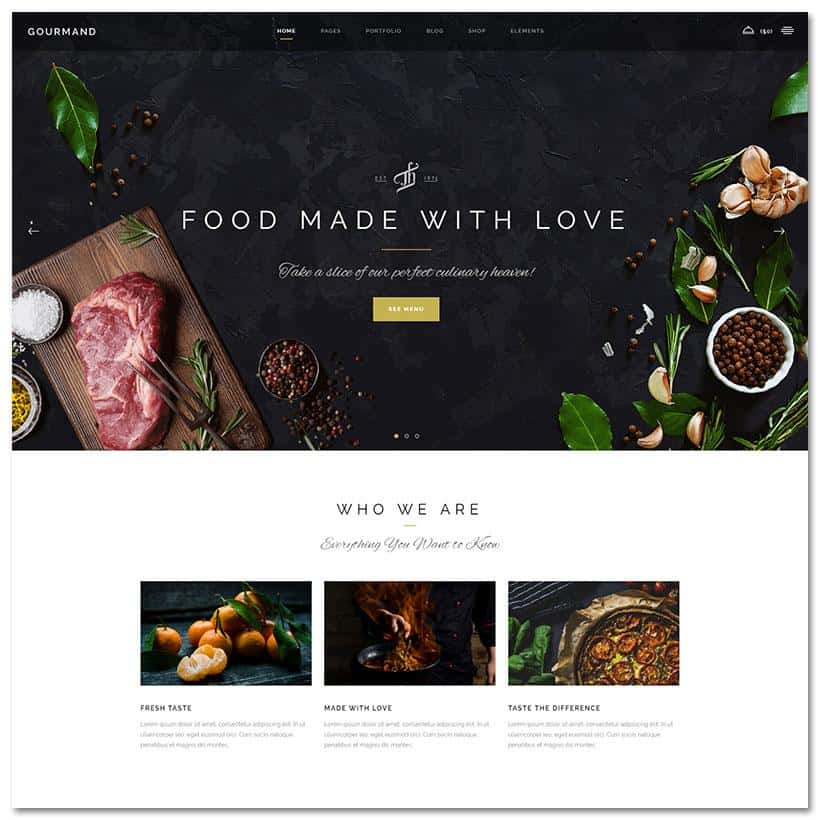 Gourmant Tema WordPress Restaurante
