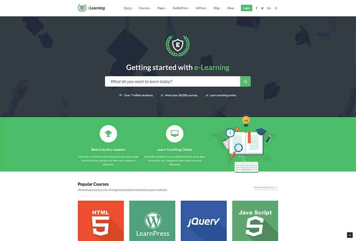 WPElearning Tema WordPress