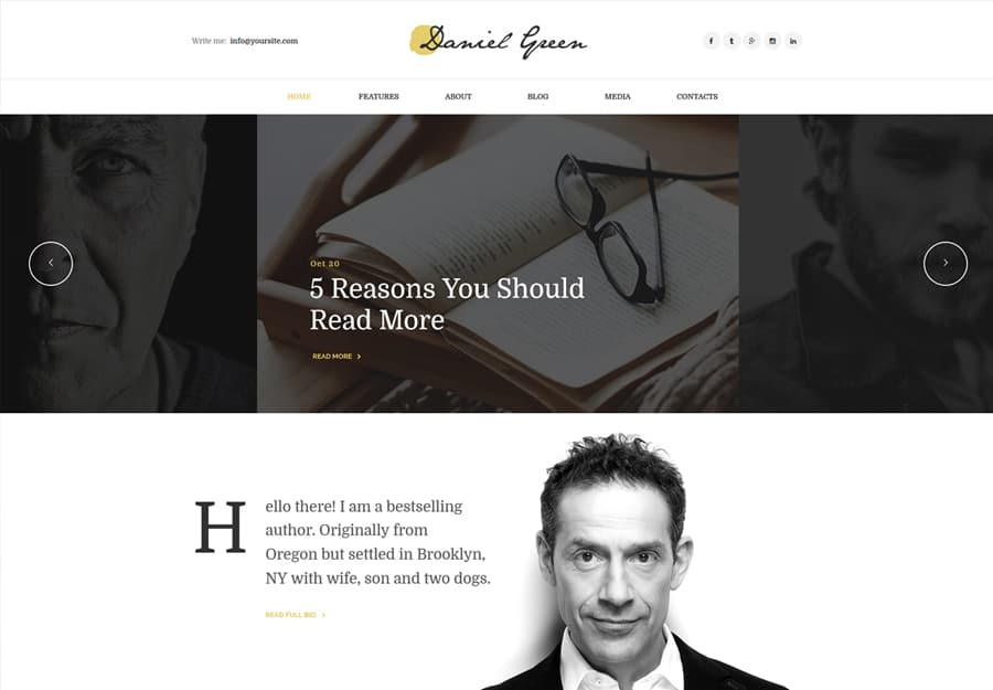 Blog Tema WordPress para Escritores e Jornalistas