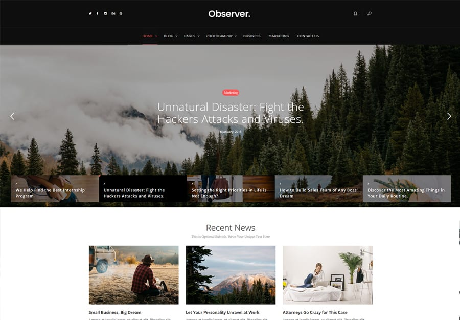 Daily Observer Tema WordPress Revistas Avaliadoras e Portal de Noticias
