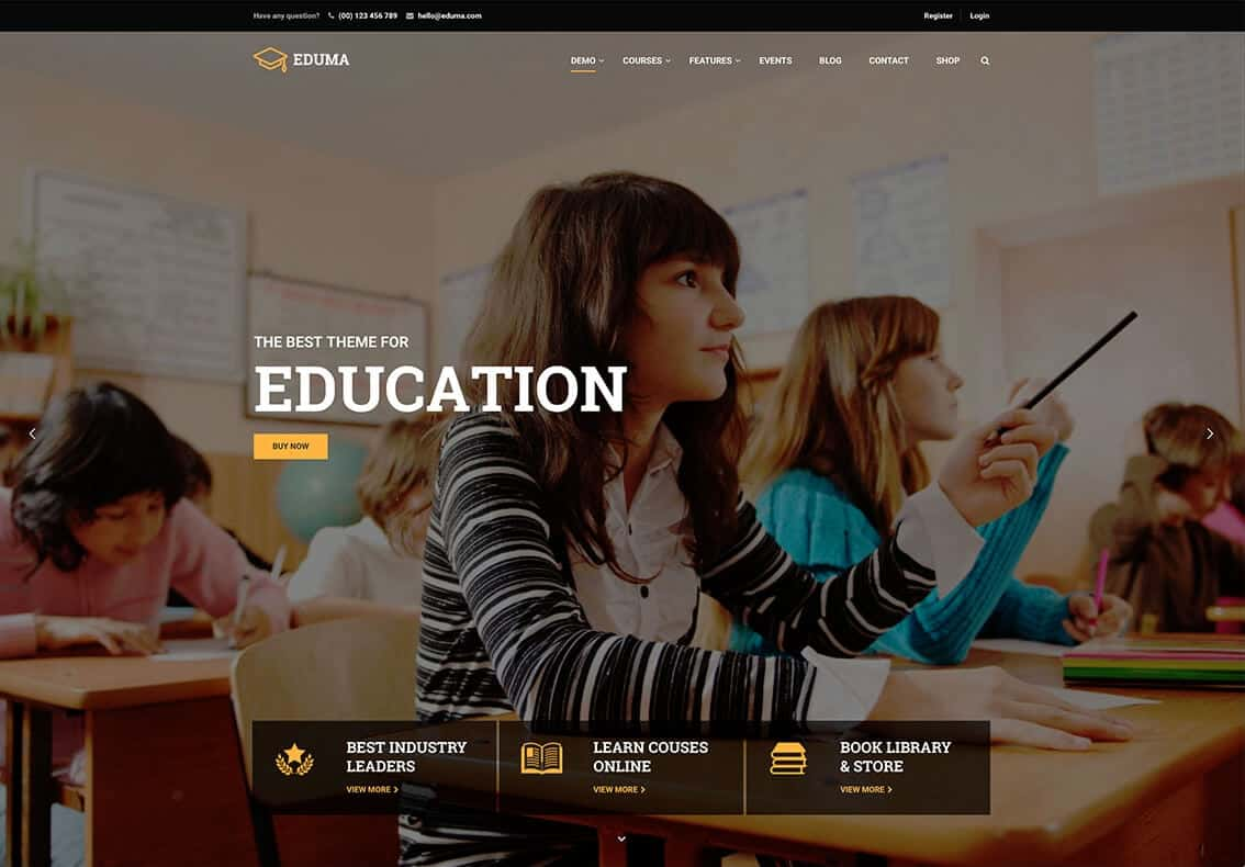 Eduma LMS Tema WordPress