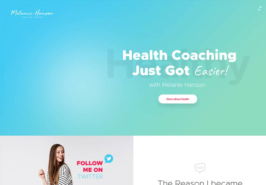 Health Coach Tema WordPress Estilo de vida Blog e Coach