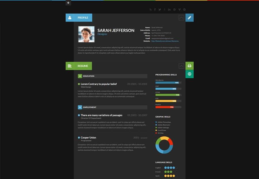 shiftcv Tema WordPress Protfolio e Resumo
