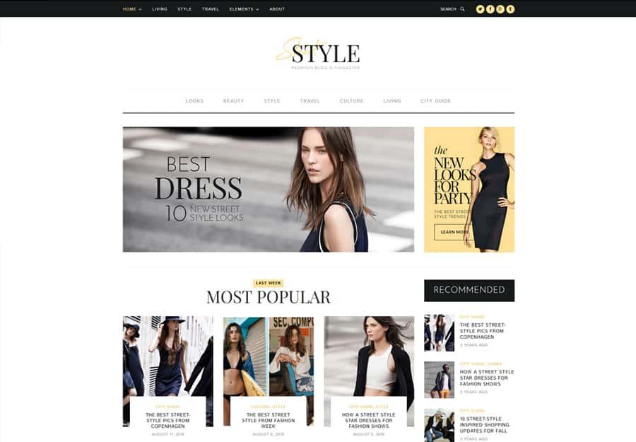 Street Style Tema WordPress Blog Pessoal e Estilo de Vida