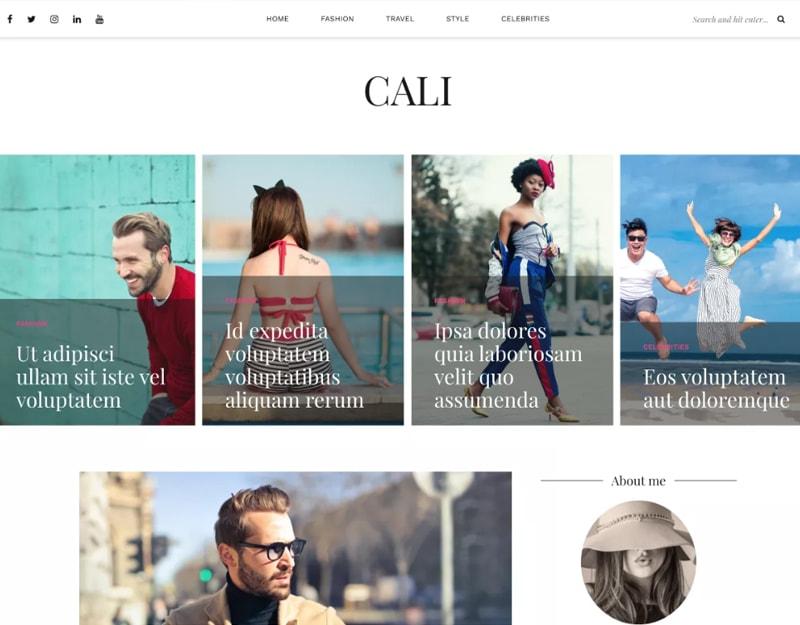 Cali Tema WordPress de Moda Gratis