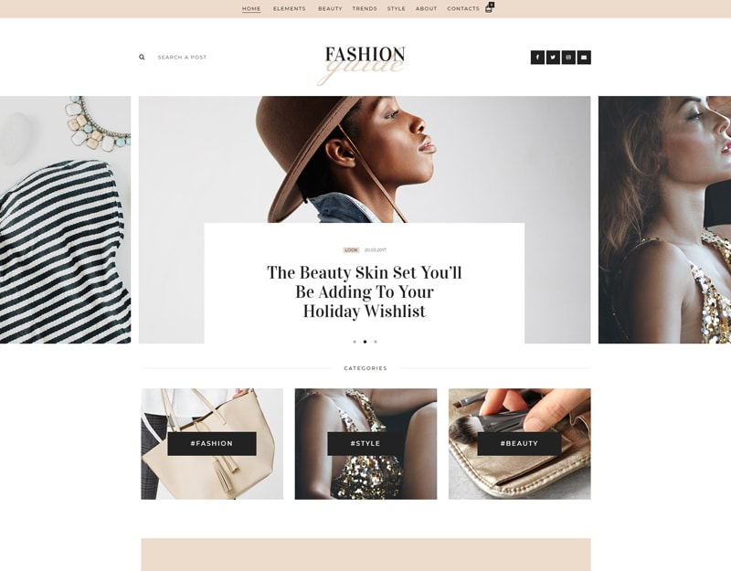 Fashion Guide Tema WordPress para Blogs e Editores