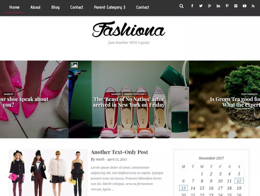 Fashiona Tema WordPress de Moda