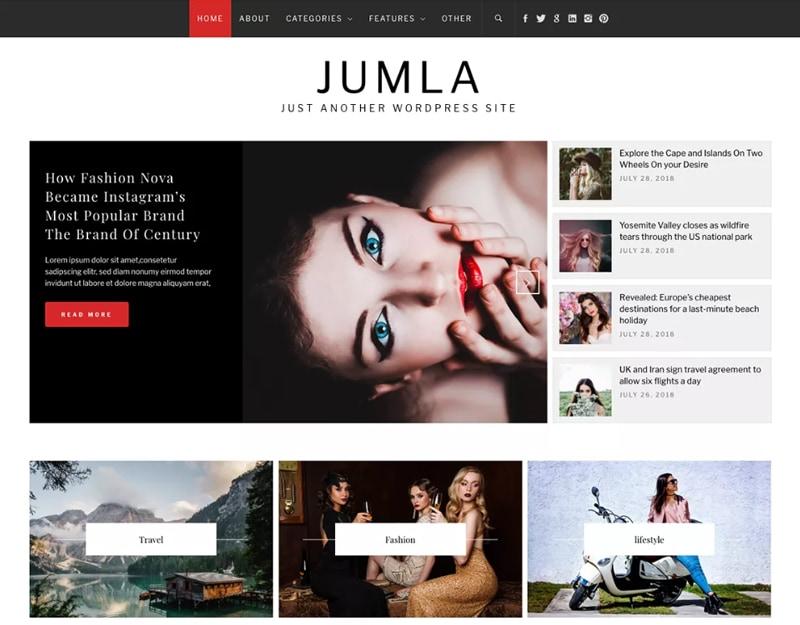 Jumla Tema WordPress de Moda Gratis